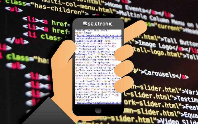 Imagem de How to show the website's html code in a mobile browser